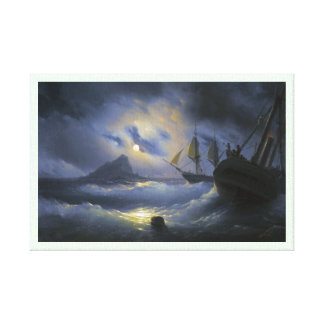 Gibraltar by Night Ivan Aivasovsky seascape waters Gallery Wrapped Canvas