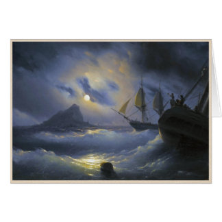 Gibraltar by Night Ivan Aivasovsky seascape waters Card