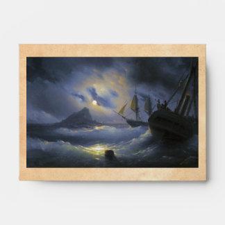 Gibraltar by Night Ivan Aivasovsky seascape waters Envelope