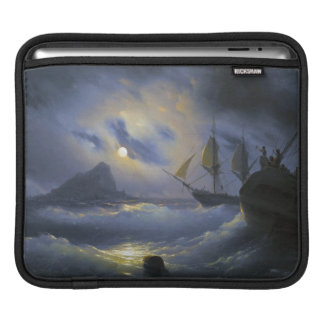 Gibraltar by Night Ivan Aivasovsky seascape waters Sleeve For iPads