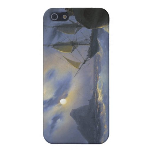Gibraltar by Night Ivan Aivasovsky seascape waters iPhone 5 Cases