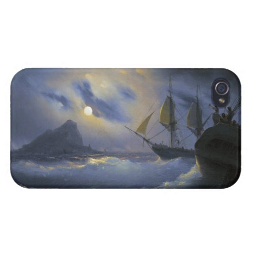 Gibraltar by Night Ivan Aivasovsky seascape waters iPhone 4/4S Cover