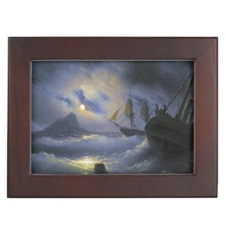 Gibraltar by Night Ivan Aivasovsky seascape waters Keepsake Box