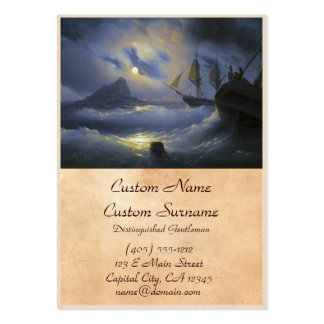 Gibraltar by Night Ivan Aivasovsky seascape waters Large Business Card