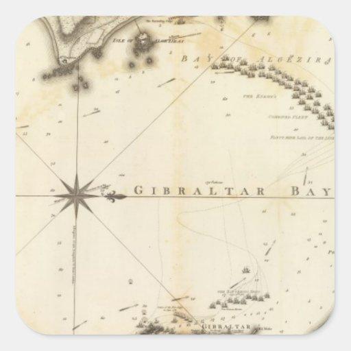 Gibraltar Calcomanía Cuadradas