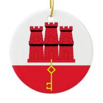 Gibraltar Ceramic Ornament