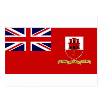 Gibraltar Civil Ensign Postcard