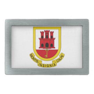 Gibraltar Coat of Arms Rectangular Belt Buckles