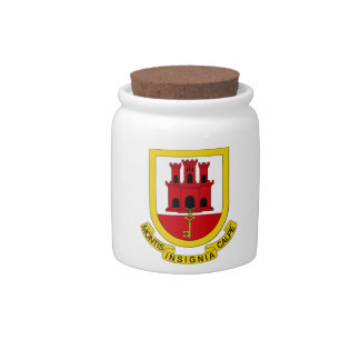 Gibraltar Coat of Arms Candy Dish