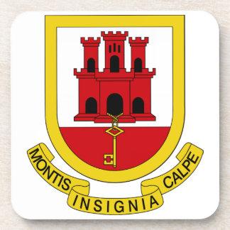 Gibraltar Coat of Arms Beverage Coaster