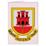 Gibraltar Coat of Arms detail Card