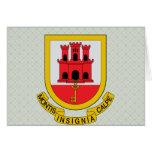 Gibraltar Coat of Arms detail Greeting Card
