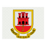 Gibraltar Coat of Arms detail Post Card