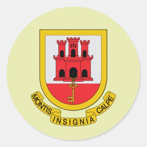 Gibraltar Coat of Arms detail Sticker