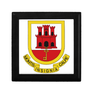 Gibraltar Coat of Arms Jewelry Boxes