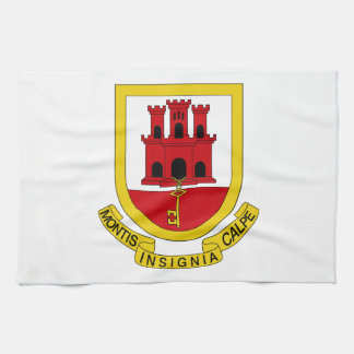 Gibraltar Coat of Arms Towels