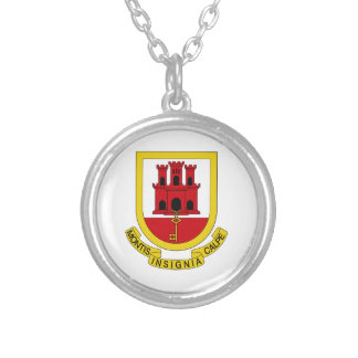 Gibraltar Coat of Arms Personalized Necklace