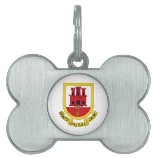 Gibraltar Coat of Arms Pet Tags
