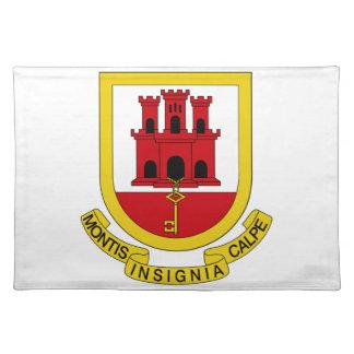 Gibraltar Coat of Arms Place Mats