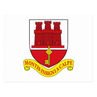 Gibraltar Coat of Arms Postcard