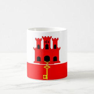 Gibraltar country long flag nation symbol republic coffee mug