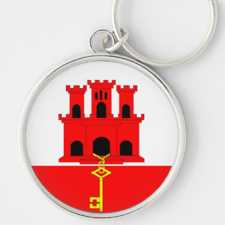 Gibraltar country long flag nation symbol republic keychain