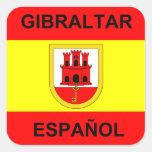 Gibraltar Espanol 20 Pegatina Cuadradas