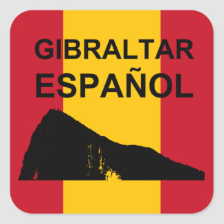 Gibraltar Español 20 Square Sticker