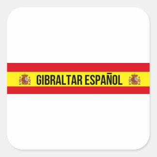 Gibraltar Español - Spanish Gibraltar Square Sticker