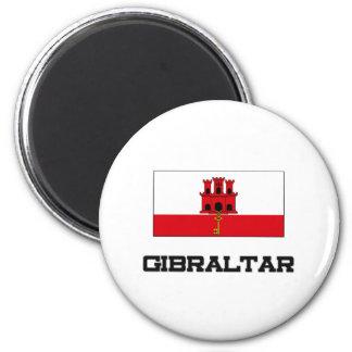 Gibraltar Flag 2 Inch Round Magnet