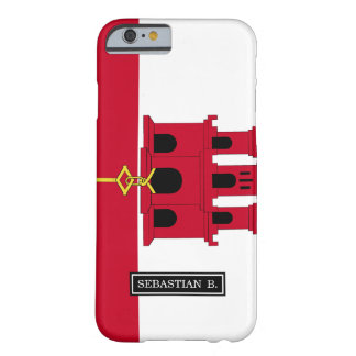 Gibraltar flag barely there iPhone 6 case