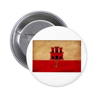 Gibraltar Flag 2 Inch Round Button