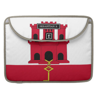 Gibraltar flag MacBook pro sleeve