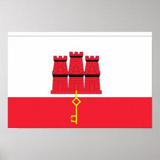 Gibraltar Flag Poster