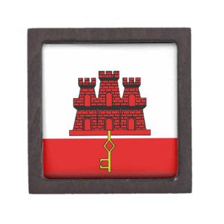 Gibraltar Flag Premium Keepsake Box
