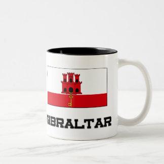 Gibraltar Flag Two-Tone Coffee Mug