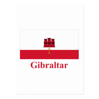 Gibraltar Flag with Name Postcard