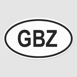 "Gibraltar ""GBZ"" Oval Sticker"