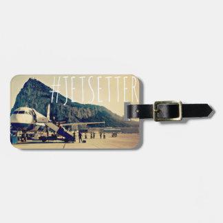 Gibraltar Jetsetter Hashtag Luggage Tag