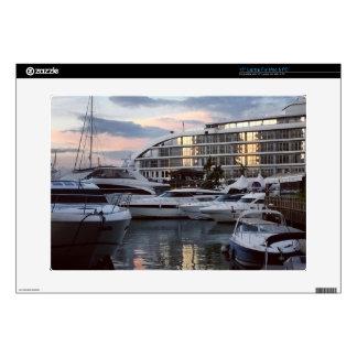 Gibraltar - Ocean Village 1 (K.Turnbull Art) Skins For Laptops