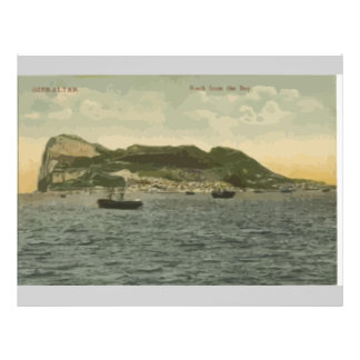 Gibraltar Rock From The Bay Vintage Flyers