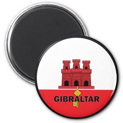 Gibraltar Roundel quality Flag 2 Inch Round Magnet