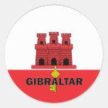 Gibraltar Roundel quality Flag Round Sticker