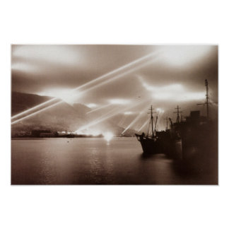 Gibraltar Searchlights Poster