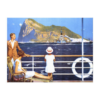 gibraltar travel print poster wrapped canvas canvas prints