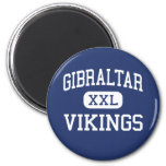 Gibraltar Vikings Middle Fish Creek Fridge Magnet