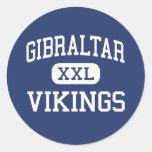 Gibraltar Vikings Middle Fish Creek Round Sticker
