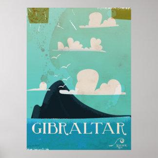 Gibraltar vintage travel poster