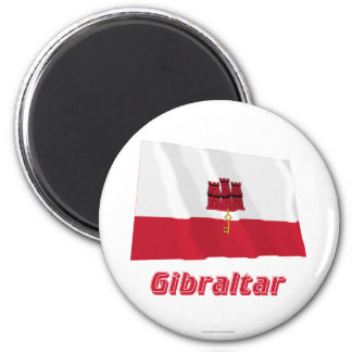 Gibraltar Waving Flag with Name Magnet