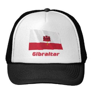 Gibraltar Waving Flag with Name Mesh Hat